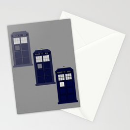 The Materializing TARDIS Stationery Cards