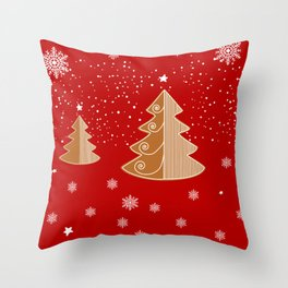 Red & white  gingerbread  #Christmas design Throw Pillow