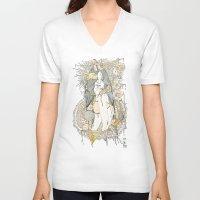 blossom V-neck T-shirts featuring //blossom// by Cassidy Rae Marietta