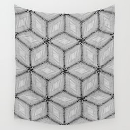 GRAY TILES Wall Tapestry