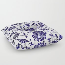 Chinese Floral Pattern Floor Pillow