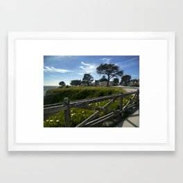 Blue-Green Framed Art Print