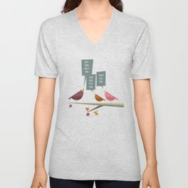 Three Little Birds Unisex V-Neck