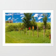 Char's Fence Art Print
