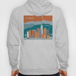 Los Angeles, California - Skyline Illustration by Loose Petals Hoody