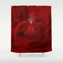 fantasy in red / the well Shower Curtain
