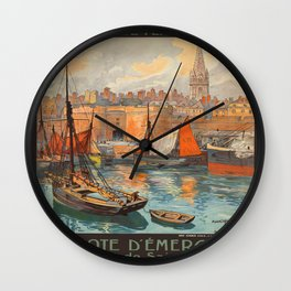 Vintage poster - France Wall Clock