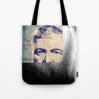 hemingway Tote Bags featuring Hemingway by Jonathan David Creative