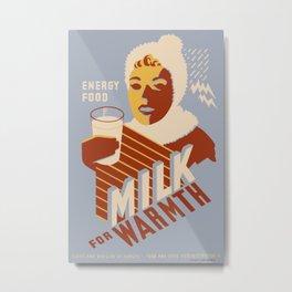 Vintage poster - Milk for Warmth Metal Print