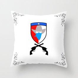 Texas Cowboy Shield Throw Pillow