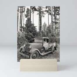 Buck Nasty's Moonshine Model A Ford Vintage Truck Skeleton Mini Art Print