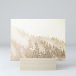 Vintage Sepia Fir Trees Mini Art Print