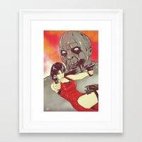 resident evil Framed Art Prints featuring Evil Resident by Giuseppe Cristiano