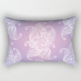 Lilac Pink Paisley Rectangular Pillow