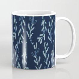 Falling Leaves Batik Watercolor Nature Leaf Coffee Mug