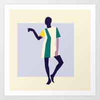Fashion Dance 5 Art Print
