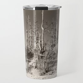 Dead Trees On The Beach Travel Mug