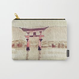Red Torii On Water Carry-All Pouch