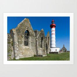 Pointe Saint Mathieu Lighthouse Art Print