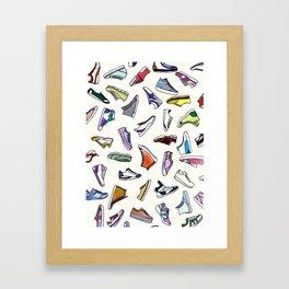 sneakers addiction Framed Art Print