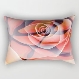 Transparent Tiger Rose Surreal Print Rectangular Pillow
