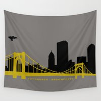 pittsburgh Wall Tapestries featuring Pittsburgh Browncoats by Caroline Moore