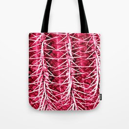 Cactus Pattern Red Tote Bag