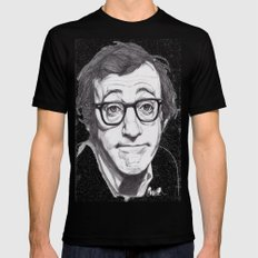 Woody Allen Mens Fitted Tee X-LARGE Black