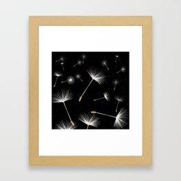Celestial Dandelions Framed Art Print
