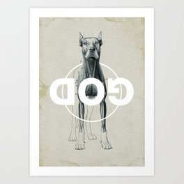 Dog God Art Print