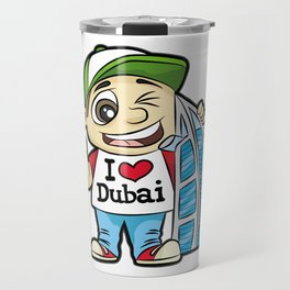 I LOVE DUBAI GUY BURJ AL ARAB HOTEL Vacation Travel Mug