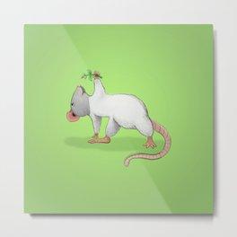 Yoga Rat, Day 4 Metal Print