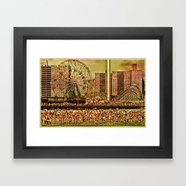 Coney Island Summer Framed Art Print