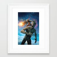 guardians of the galaxy Framed Art Prints featuring Guardians of the Galaxy by crayonide