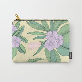 Jungle Daydream Purple Floral Print Carry-All Pouch