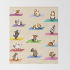 The Yoguineas Collection - Namast-hay! Throw Blanket