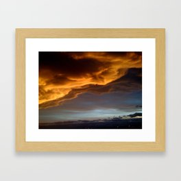 Clouds with a Story Sunset Framed Art Print