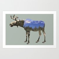 moose Art Prints featuring MOOSE by James Wetherington