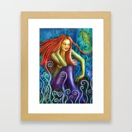 Mermaid Serena Framed Art Print