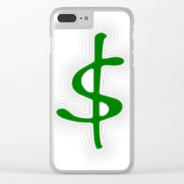 Shrinking Dollar Clear iPhone Case