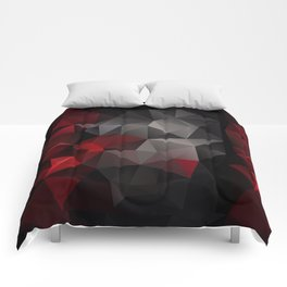 Polygon red black triangles . Comforters