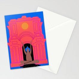 moon goddess illustration Stationery Cards