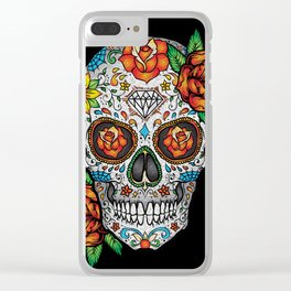 Sugar Skull, Day Of The Dead Clear iPhone Case