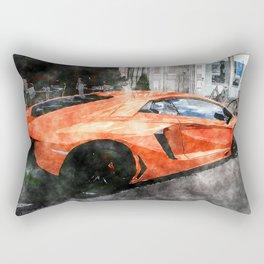 Orange Car Rectangular Pillow