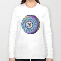 ohm Long Sleeve T-shirts featuring Ohm Mandala  by Kaleidoscopic