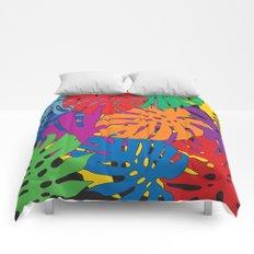 Monstera leaves in Pop Art Comforters