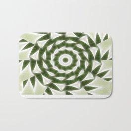 Green White Kaleidoscope Art 4 Bath Mat