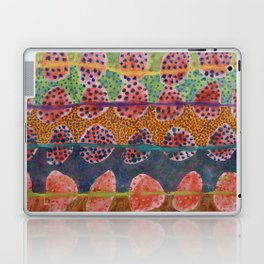 Red Round And Dotted Forms  Laptop & iPad Skin