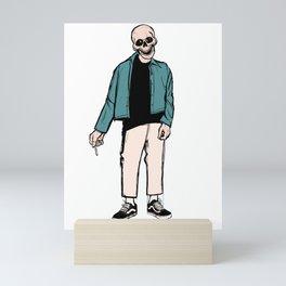 smoking skull 004 Mini Art Print
