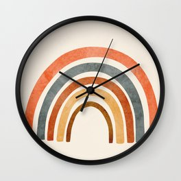 Abstract Rainbow 88 Wall Clock